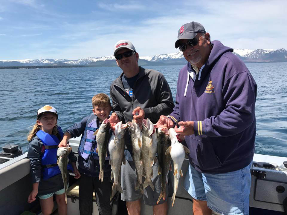 Trout fishing with a local guide in Lake Tahoe