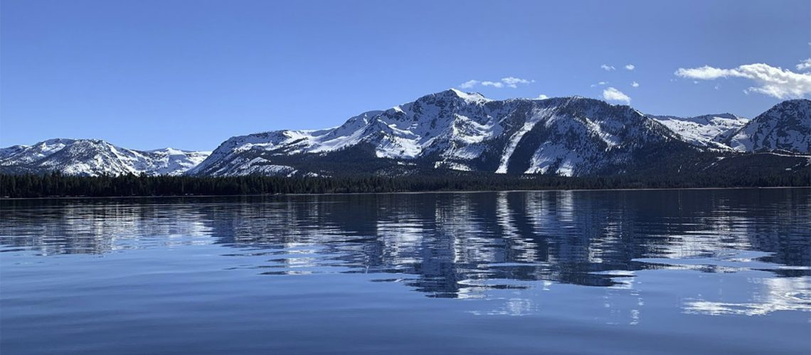Panoramic view of Lake Tahoe